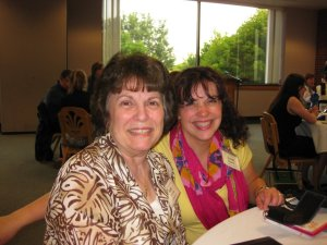 """Beth Ziarnik and me. She was the """"Paul"""" to my """"Timothy"""" at my first writer's conference (Write to Publish)"""