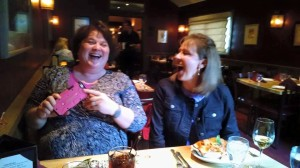 Dee Dee and Lori laughing